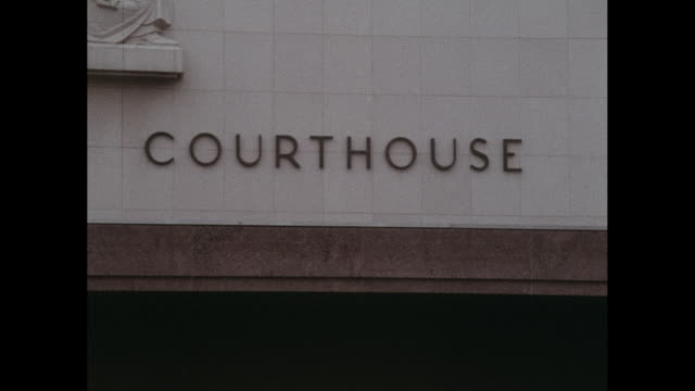 los angeles county courthouse building signage - courthouse stock videos & royalty-free footage