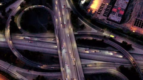 los angeles county traffic - highway stock videos & royalty-free footage