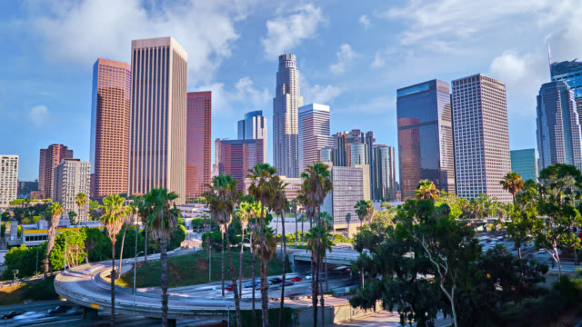 los angeles day and traffic - city of los angeles stock videos & royalty-free footage