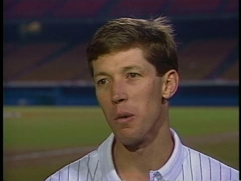 los angeles dodgers pitcher orel hershiser discusses his 60 win over oakland in the 1988 world series - sport stock videos & royalty-free footage