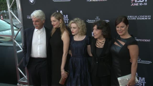 los angeles film festival opening night premiere of grandma at regal cinemas la live on june 10 2015 in los angeles california - ブレンダ ヴァッカロ点の映像素材/bロール