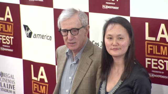 los angeles film festival premiere of 'to rome with love' event capsule clean 2012 los angeles film festiva at regal cinemas la live on june 14 2012... - soon yi previn stock videos & royalty-free footage