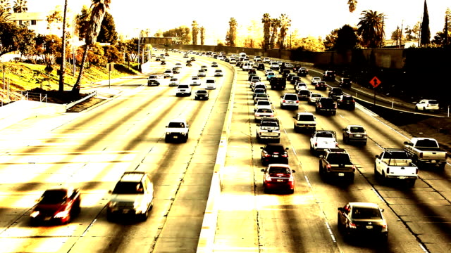 Los Angeles Freeway at Sunset