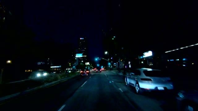 vidéos et rushes de los angeles iii série synchronisée front view plaque de processus de conduite - driving plate image animée