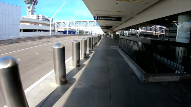 lax los angeles international airport empty during the pandemic - epidemic stock videos & royalty-free footage