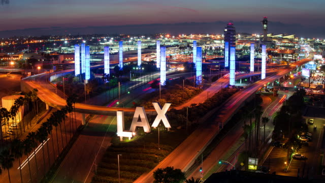 los angeles international airport - lax airport stock videos & royalty-free footage