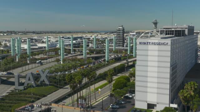 los angeles international airport - hyatt stock videos & royalty-free footage