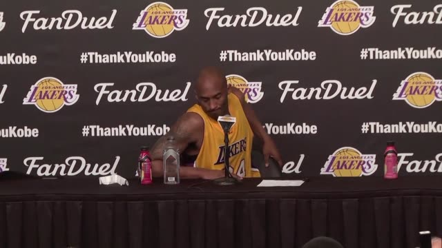 los angeles lakers legend kobe bryant delivers a hollywood ending as the curtain comes down on his glittering 20 year nba career in a blockbuster... - kobe bryant stock videos & royalty-free footage