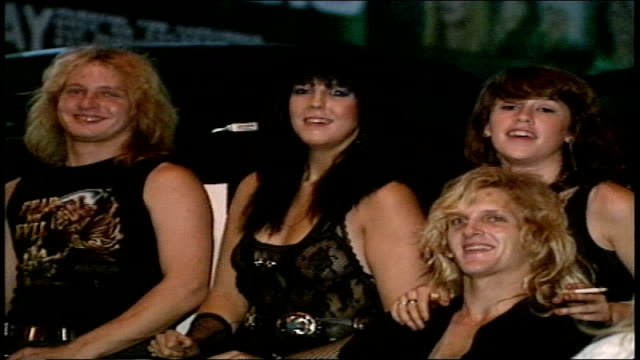 los angeles nightlife in 1988 crowds outside gazzarri's nightclub - sunset boulevard stock videos & royalty-free footage