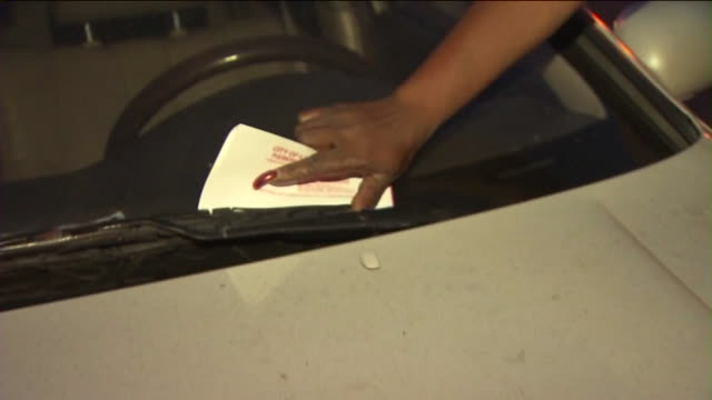 ktla los angeles parking enforcement handing out ticket - parking ticket stock videos & royalty-free footage