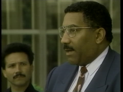 los angeles police chief willie williams talks about the arrest of o.j. simpson. - arrest stock videos & royalty-free footage