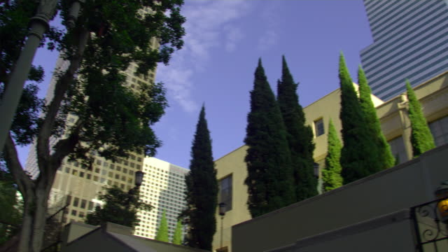 ms, la, pan, los angeles public library, los angeles, california, usa - 公共図書館点の映像素材/bロール