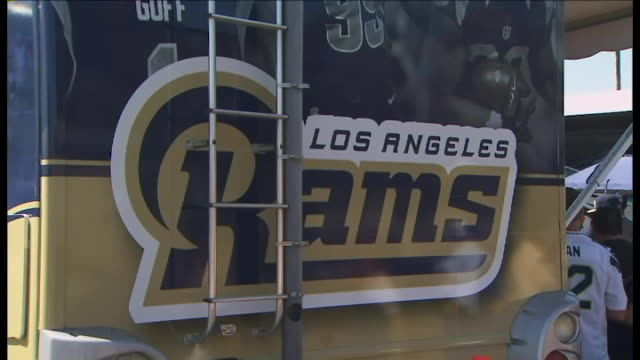 KTLA Los Angeles Rams' first regular season game at the Coliseum