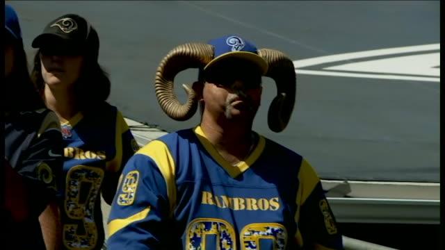 KTLA Los Angeles Rams' first regular season game at the Coliseum