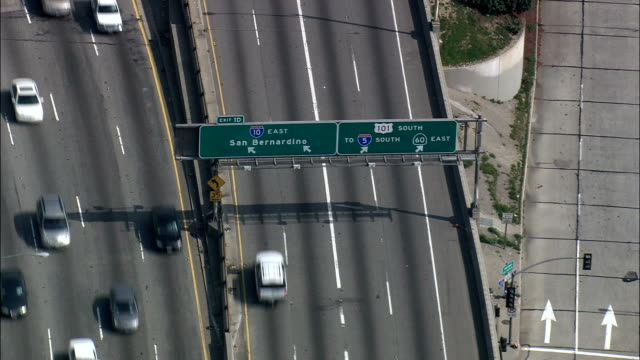 Los Angeles Roads  - Aerial View - California,  Los Angeles County,  United States