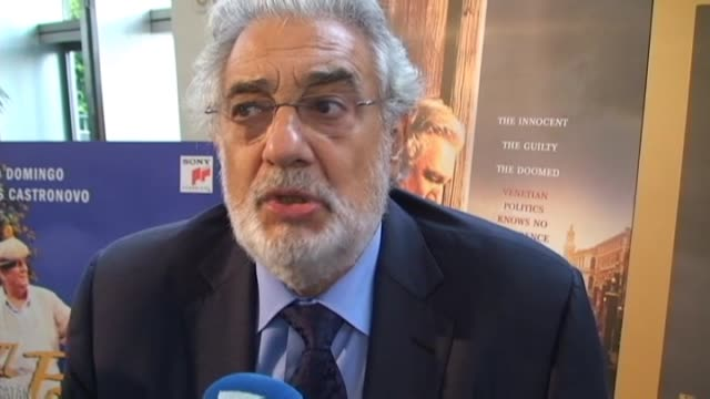 fernando mexía spanish tenor placido domingo says he is preparing a project aimed at convincing hollywood film stars to attend regularly performances... - subscribe stock videos and b-roll footage