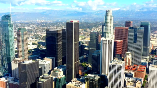 los angeles skyline antenne - north america stock-videos und b-roll-filmmaterial