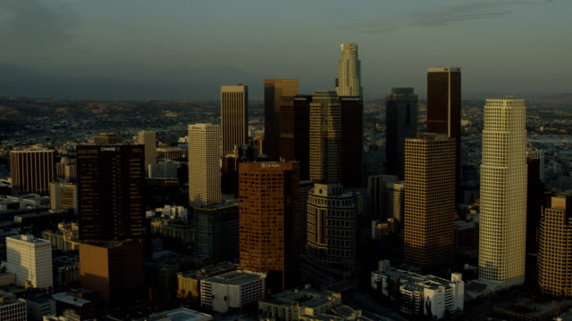 Los Angeles Skyscrapers At Golden Hour