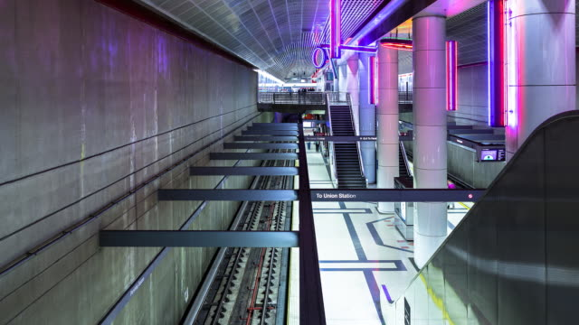 Los Angeles Subway Station Timelapse