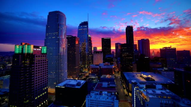 Los Angeles sunrise time lapse 4K