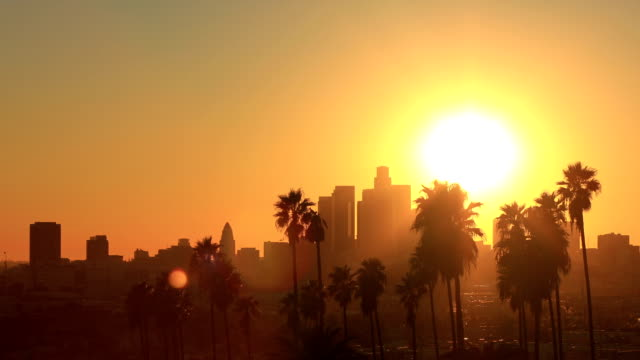 Los Ángeles Sunset HD Video en Stock: