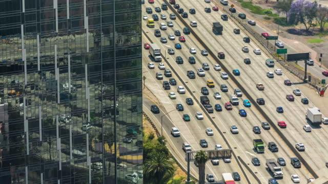 Los Angeles Traffic 110 Freeway Traffic