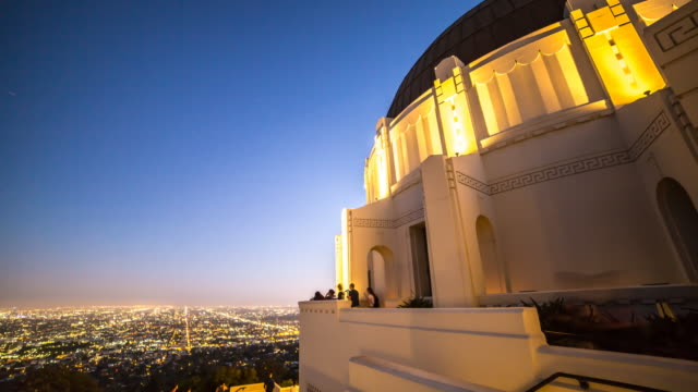 los angeles view 3 - griffith observatory stock videos & royalty-free footage