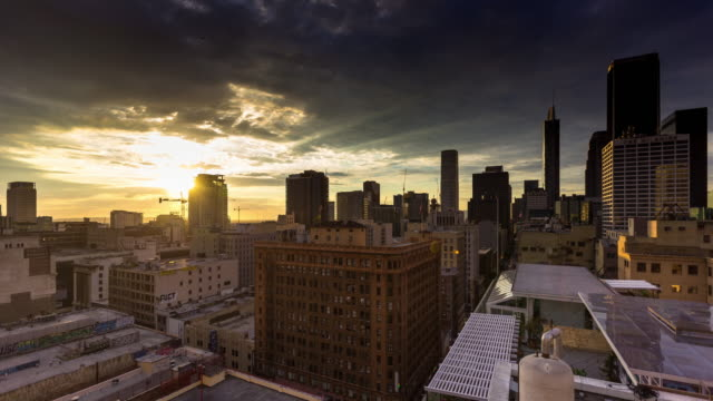 Los Angeles Winter Sunset - Time Lapse
