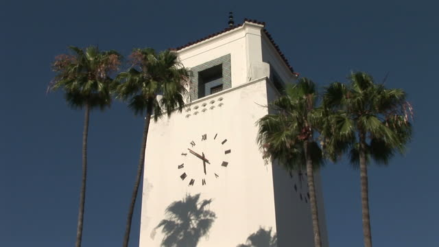 Los AngelesClock Tower at Los Angeles Union Station in Los Angeles United States