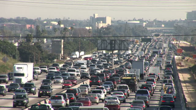 Los AngelesHeavy traffic on Freeway in Los Angeles United States