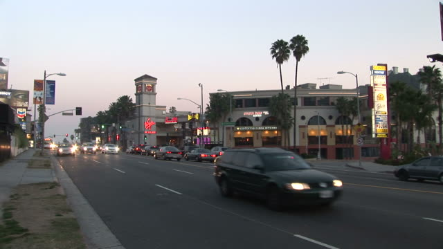 Los AngelesView of Sunset Blvd at magic hour in Los Angeles United States