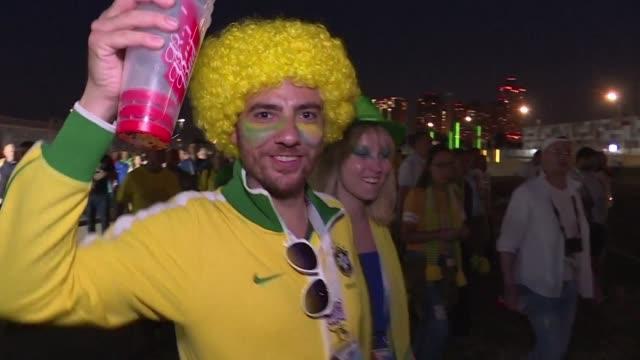 los brasilenos celebraron el miercoles con mas alivio que jubilo el triunfo de la canarinha ante serbia en una jornada que tambien aparto el fantasma... - executioner stock videos & royalty-free footage