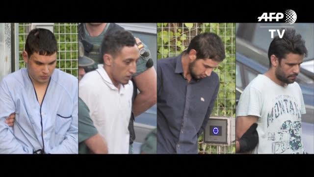 los cuatro sospechosos todavia vivos del doble atentado que dejo 15 muertos en cataluna eran interrogados el martes en madrid - acanthaceae stock videos & royalty-free footage