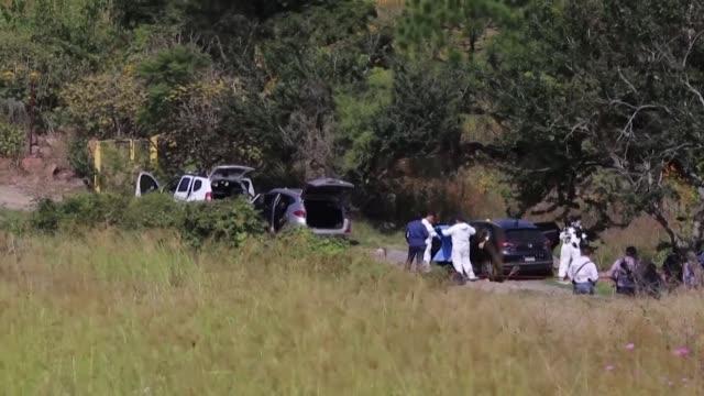 los cuerpos de siete hombres fueron localizados el miercoles en tres vehiculos abandonados en un camino de tierra en los suburbios de guadalajara la... - hombres stock videos & royalty-free footage