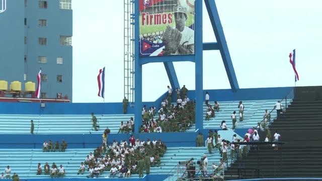vídeos y material grabado en eventos de stock de los directivos del beisbol de cuba y estados unidos confian en que se aceleren las negociaciones para que los deportistas cubanos puedan jugar en las... - ee.uu
