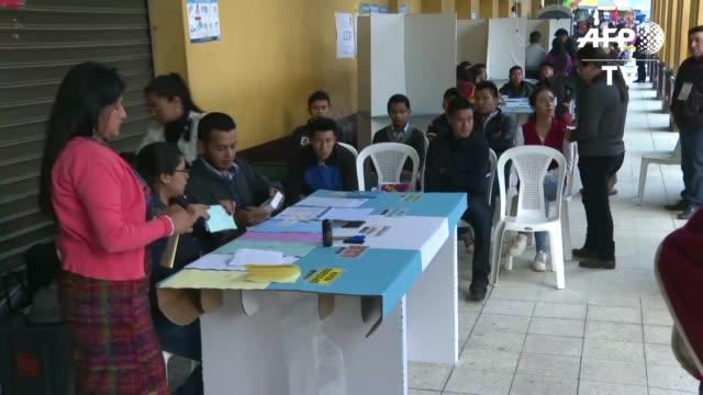 GTM: Comienza votacion en Guatemala para elegir nuevo presidente