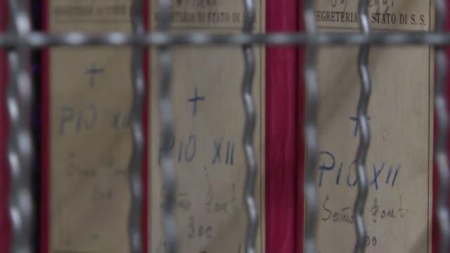 los historiadores se sumergieron el lunes en los archivos del pontificado del papa pío xii acusado de permanecer en silencio durante el exterminio de... - nazismo stock videos & royalty-free footage