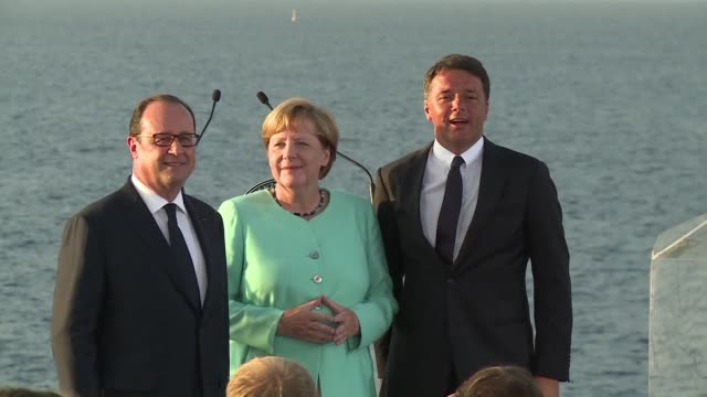 los lideres de italia francia y alemania afirmaron el lunes que europa no se acabara tras el brexit durante una reunion en la que trataron diversos... - europa continente stock videos & royalty-free footage
