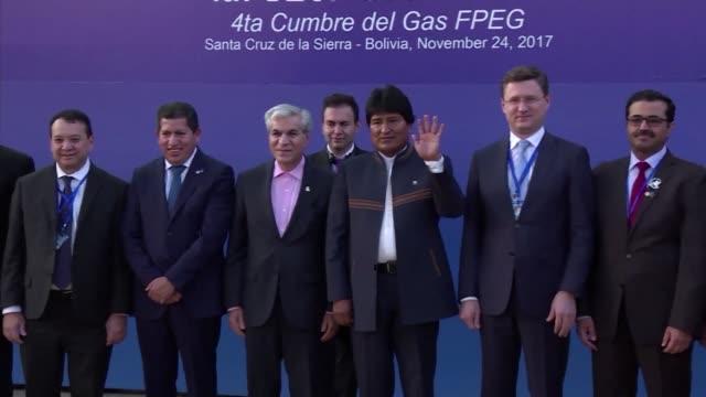 los paises con mayores yacimientos de gas y las grandes transnacionales del rubro estan reunidos en bolivia desde el martes para discutir politicas... - discutir stock videos & royalty-free footage