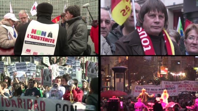 'basta ya' paris france - sindicatos stock videos & royalty-free footage