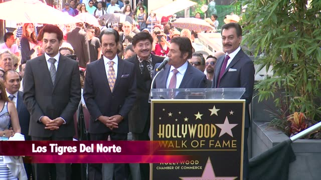 chyron los tigres del norte honored with star on the hollywood walk of fame - california del norte stock videos & royalty-free footage