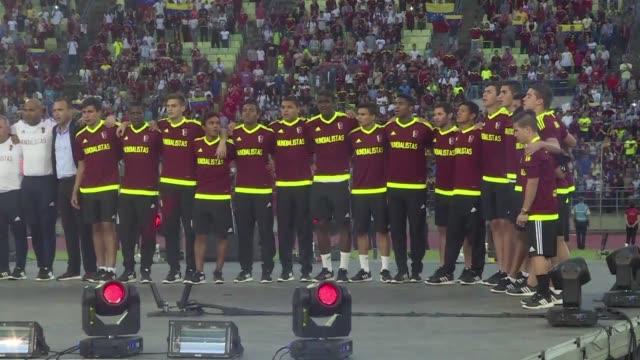 Los venezolanos celebraronun homenaje el martes en Caracas a los heroes de la Vinotinto que obtuvieron el subcampeonato en el Mundial Sub20