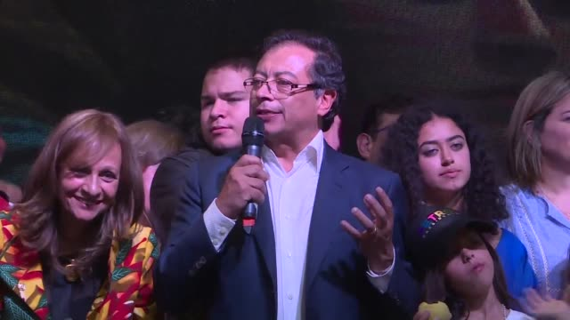 Losing candidate Gustavo Petro calls on Colombia's president elect Ivan Duque to radically separate himself from corrupt politicians during a...