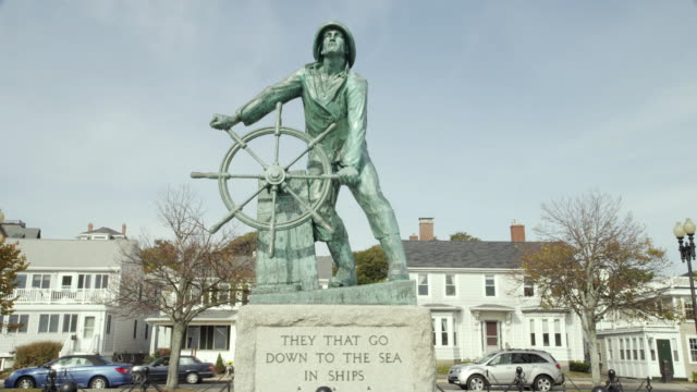 lost fisherman stautue gloucester ma tight - gloucester massachusetts stock videos & royalty-free footage