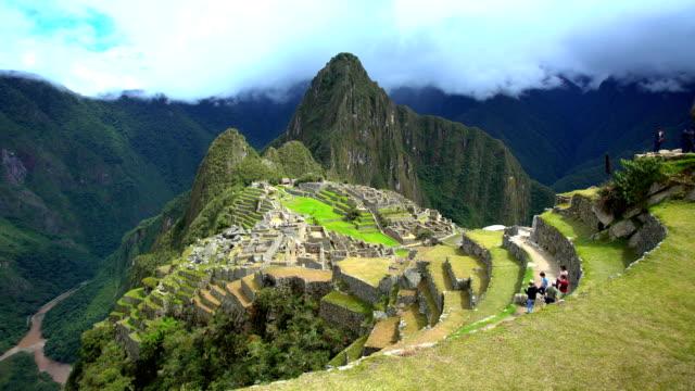 lost inca city ruins of machu picchu peru - machu picchu stock videos & royalty-free footage