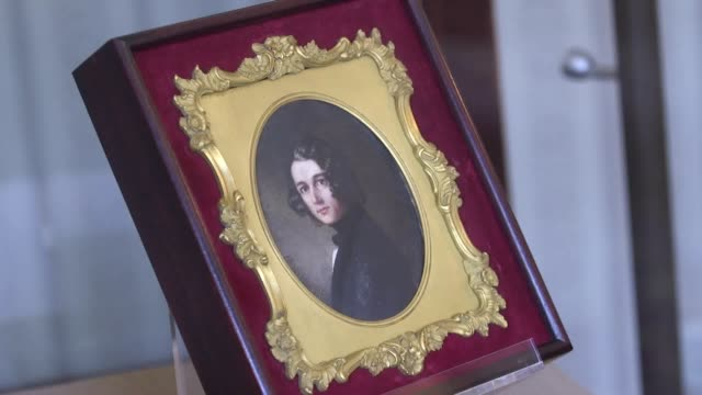 lost portrait of writer charles dickens by margaret gillies at the charles dickens museum in london. recently re-discovered after 174 years, it will... - charles dickens stock videos & royalty-free footage
