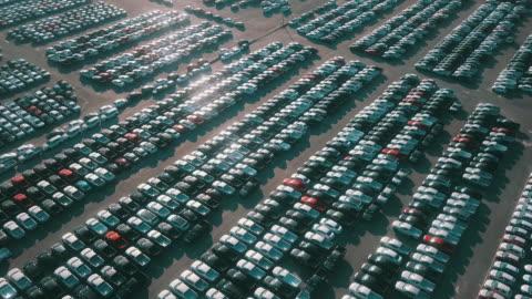 大量出口新車待售 - parking 個影片檔及 b 捲影像