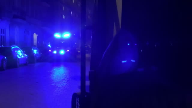 lots of blue light on street - police car stock videos & royalty-free footage