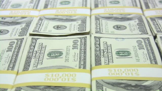 vídeos de stock, filmes e b-roll de muito dinheiro dinheiro. dólares americanos. dólar americano. - repetition