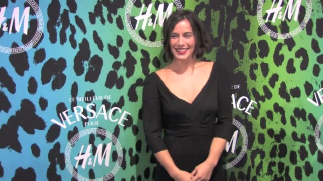 Lots of HM and Versace fans 'funky' colors and french celebrities at the launch of the new collectionVersace for HMEmma de Caunes Zoe Felix Aisa...